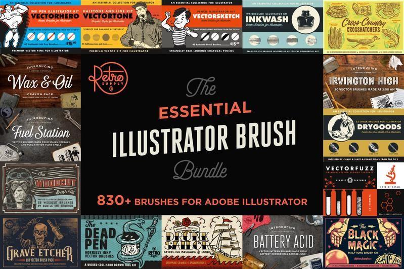 The Best Free And Premium Illustrator Brushes Illustrator Brushes Adobe Illustrator Brushes Vector Brush