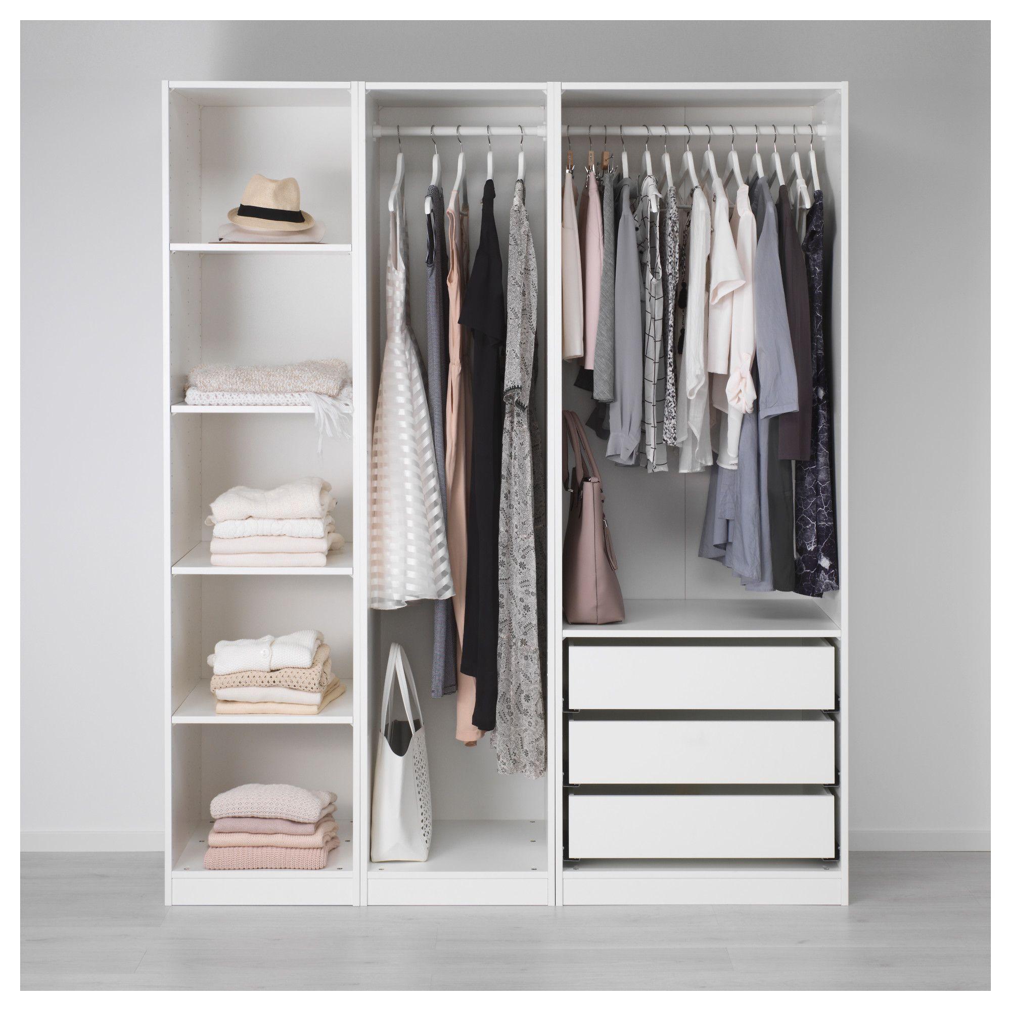 PAX Kleiderschrank, weiß | Ikea pax, Ikea pax wardrobe and Pax ...