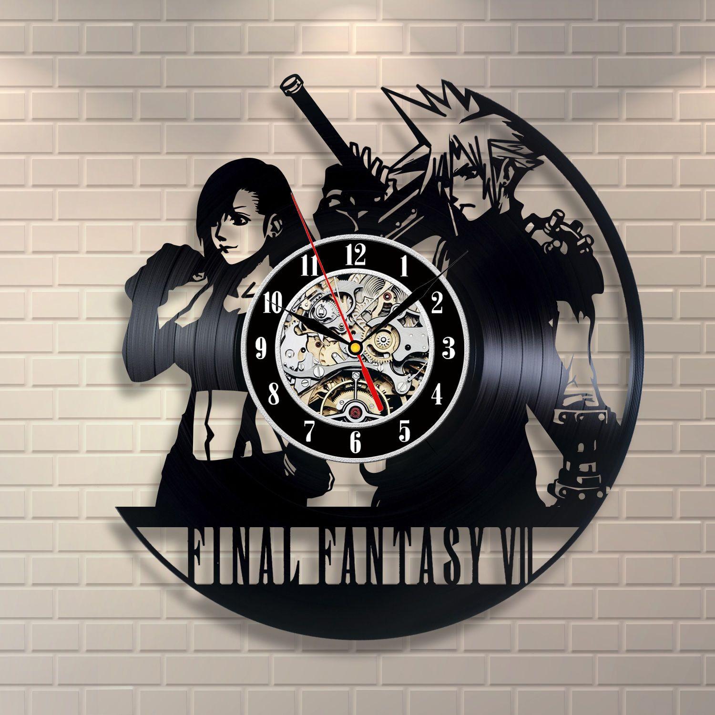 Final Fantasy Vinyl Record Wall Clock Awesome Gadgets