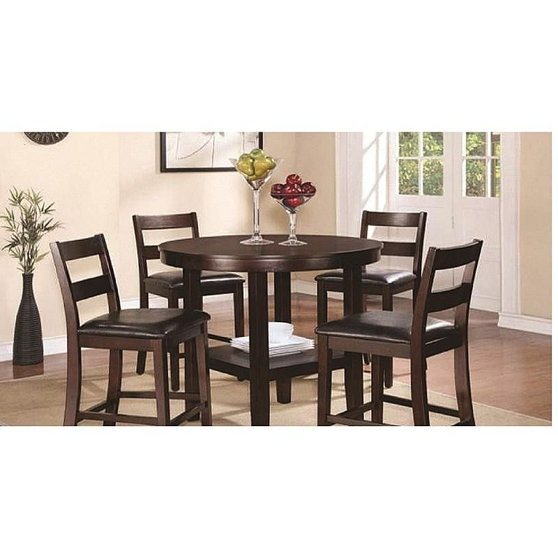 19001Trd4  5 Piece Counter High Dining Set Dining Table And 4 Captivating Dining Room 5 Piece Sets Design Inspiration
