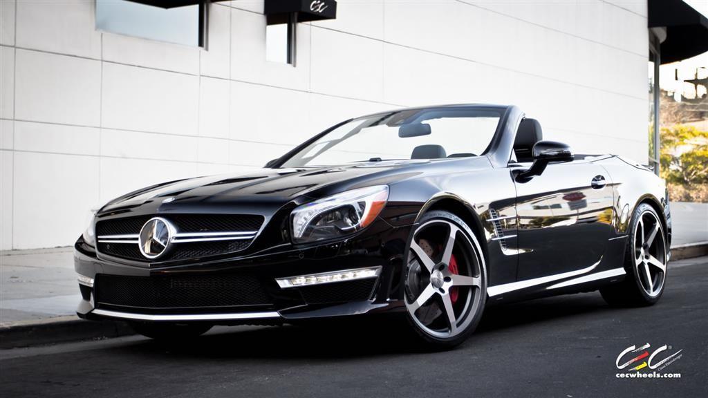 Mercedes benz sl63 amg with custom wheels by cec in los for Custom wheels for mercedes benz