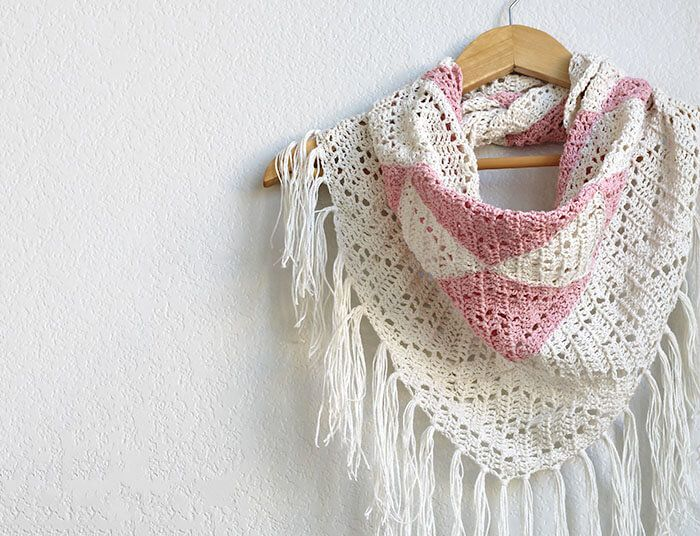 The Trillium: Geometric Triangle Scarf Crochet Pattern | Chal