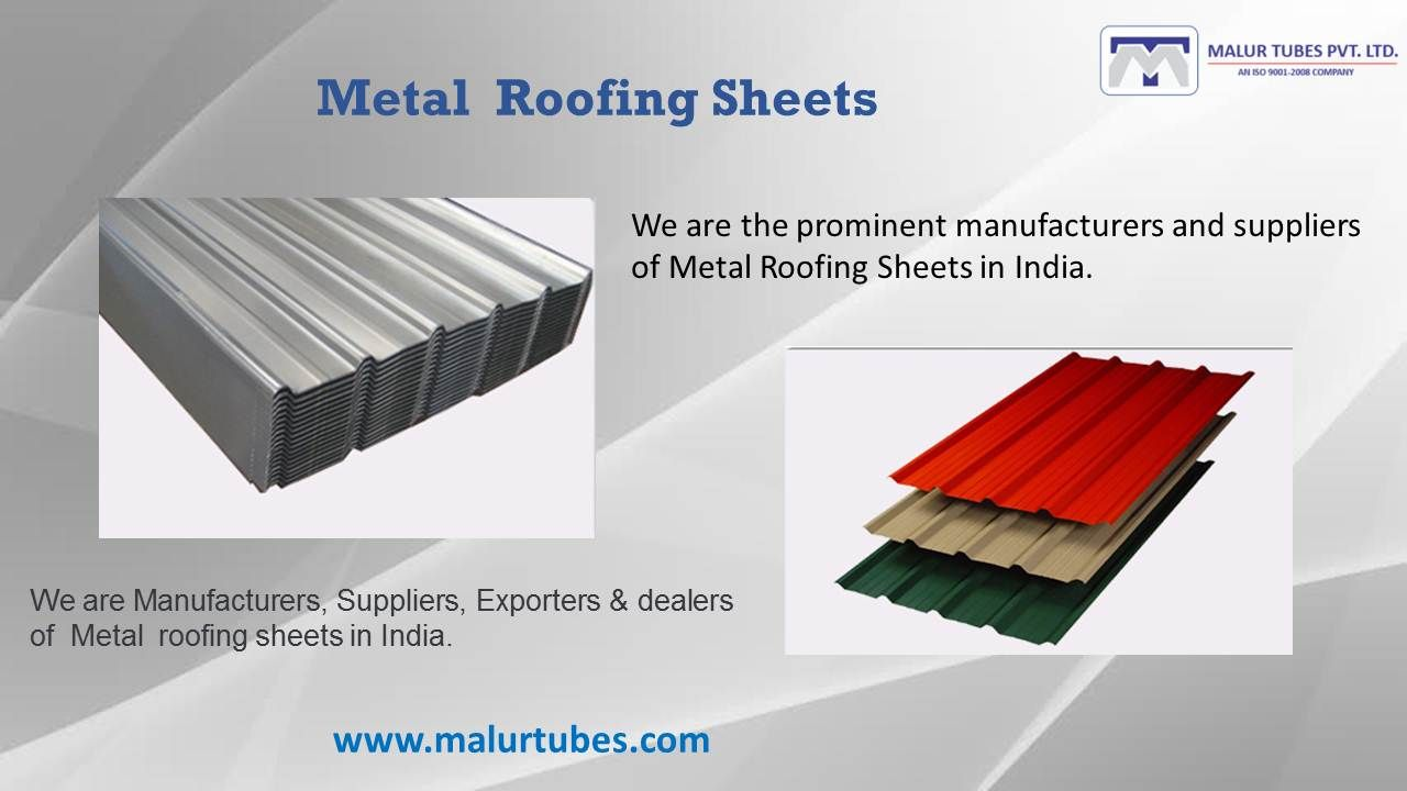 We Are The Prominent Manufacturers And Suppliers Of Metal Roofing Sheets In India Steel Roofing Sheets Sheet Metal Roofing Roofing Sheets