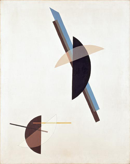 Lázló Moholy-Nagy, On white ground, 1923, Oil on canvas, 101 x 80.5 cm, Museum Ludwig 1976, Donation of Walter Franz, Köln 1962