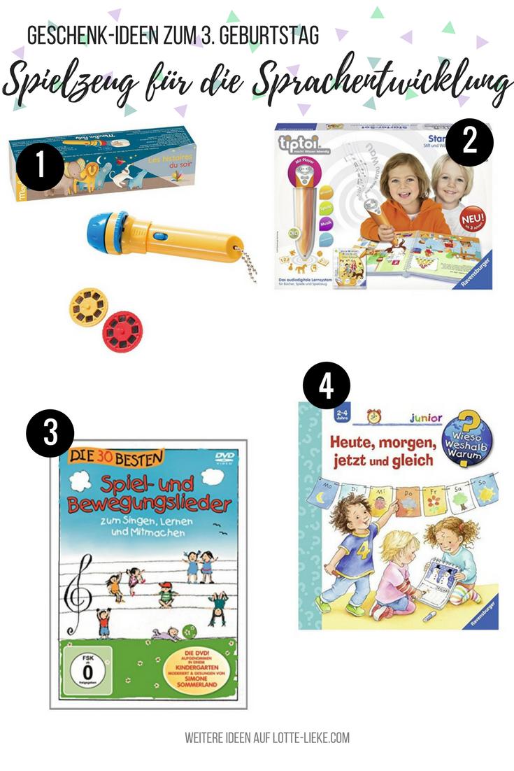 GeschenkIdeen für 3Jährige (zum Geburtstag oder