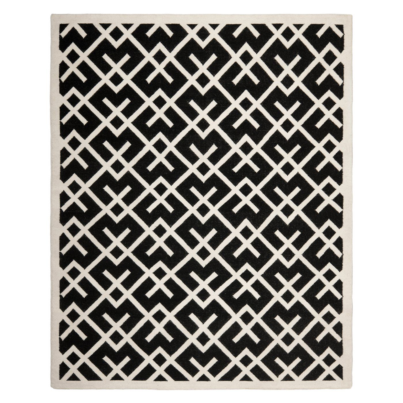 Shop Safavieh  DHU552L Dhurries Area Rug, Black / Ivory at Lowe's Canada. Find our selection of area rugs at the lowest price guaranteed with price match + 10% off.