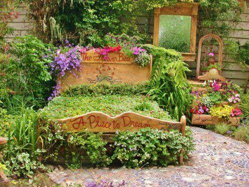 kreative gartengestaltung bett begrünen love the idea! | garden ...