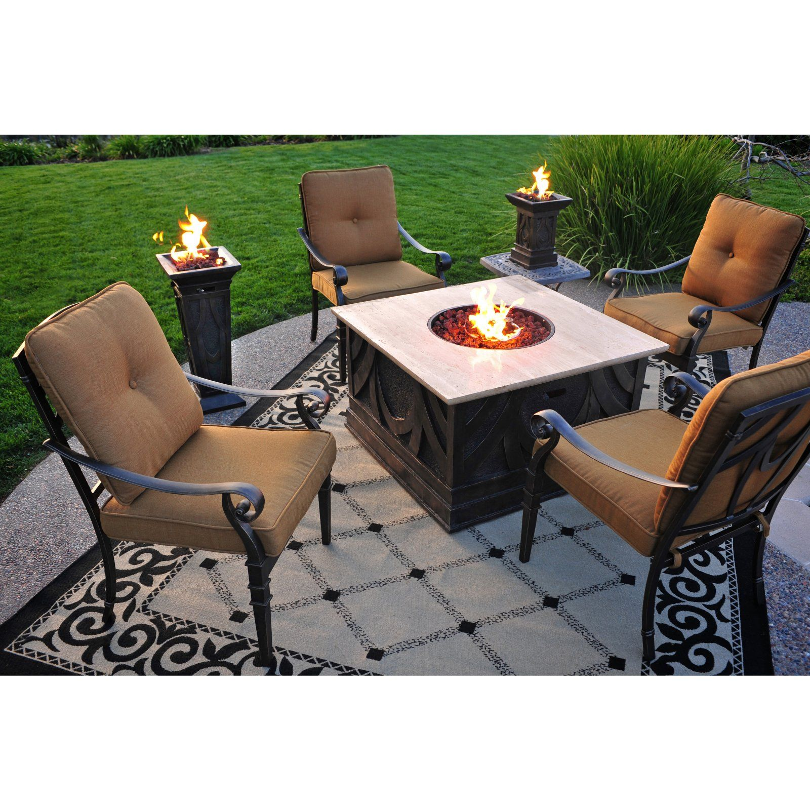 Great and moveable outdoor fire pit coffee table and torches great and moveable outdoor fire pit coffee table and torches geotapseo Gallery