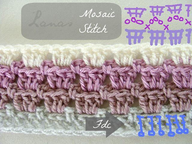 Muster Mosaik-Schal   Crochet   Pinterest   Mosaik, Schals und Muster