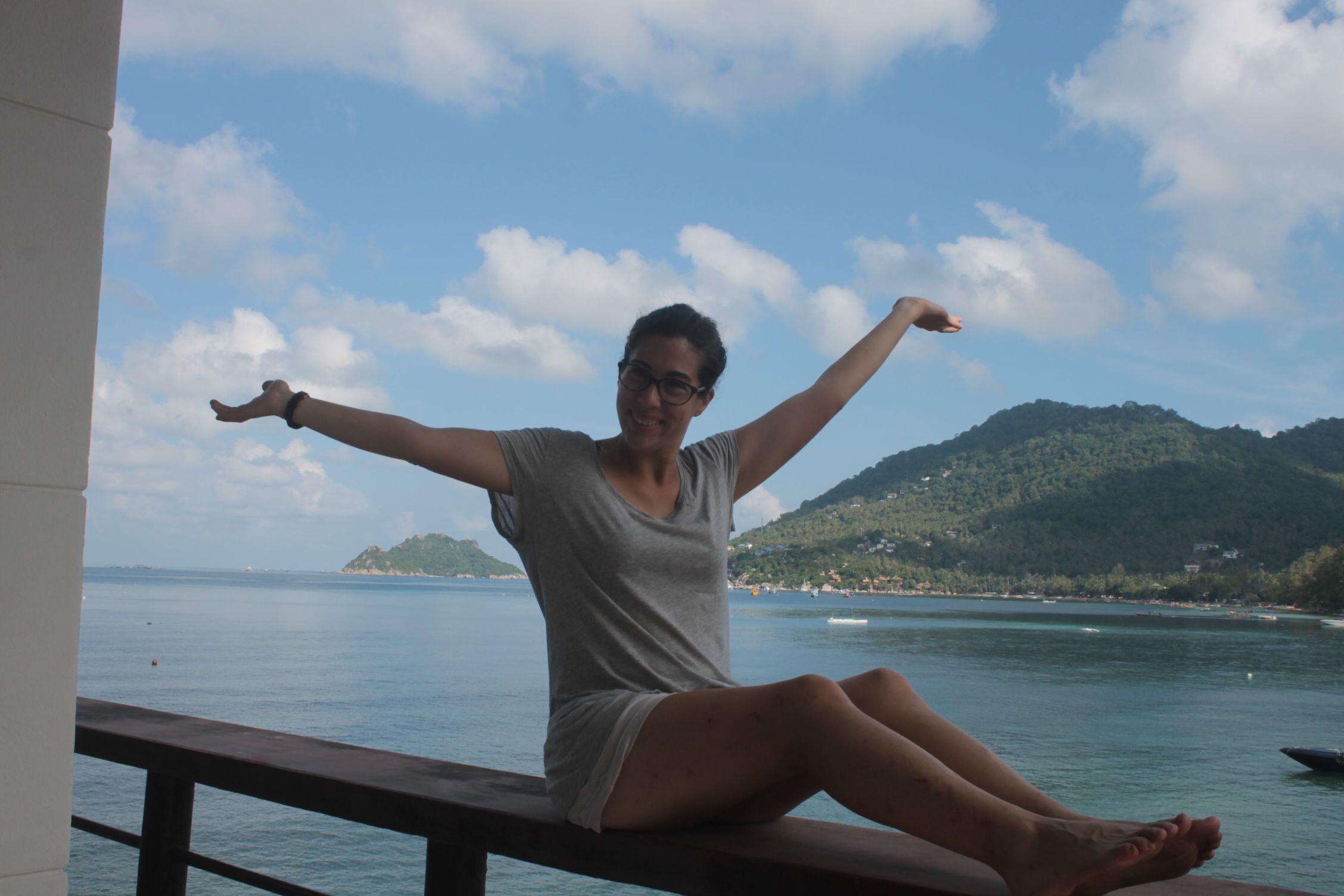 Vistas a Sairee Beach y Nang Yuan desde nuestra magnífica terraza