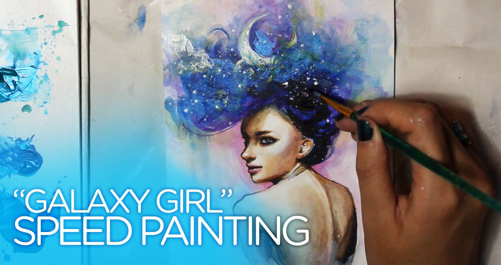 """[SPEED PAINTING] Acrylic painting timelapse - """"Galaxy Girl"""""""