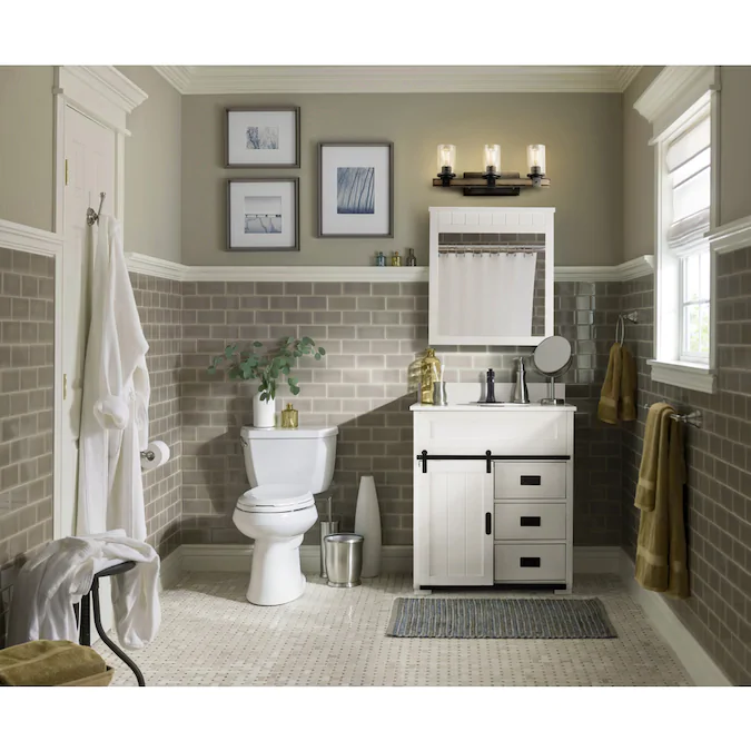 Style Selections Morriston 30 In White Single Sink Bathroom Vanity With White Engineered Stone Top Lowes Com In 2020 Single Sink Bathroom Vanity Best Bathroom Tiles Bathroom Tile Designs