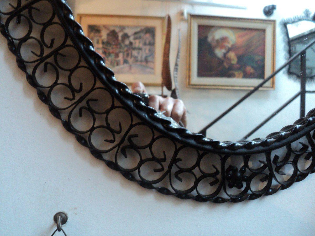 Espejo Marco Antiguo Hierro Artístico. Antigua Saudade - $ 550,00 en ...