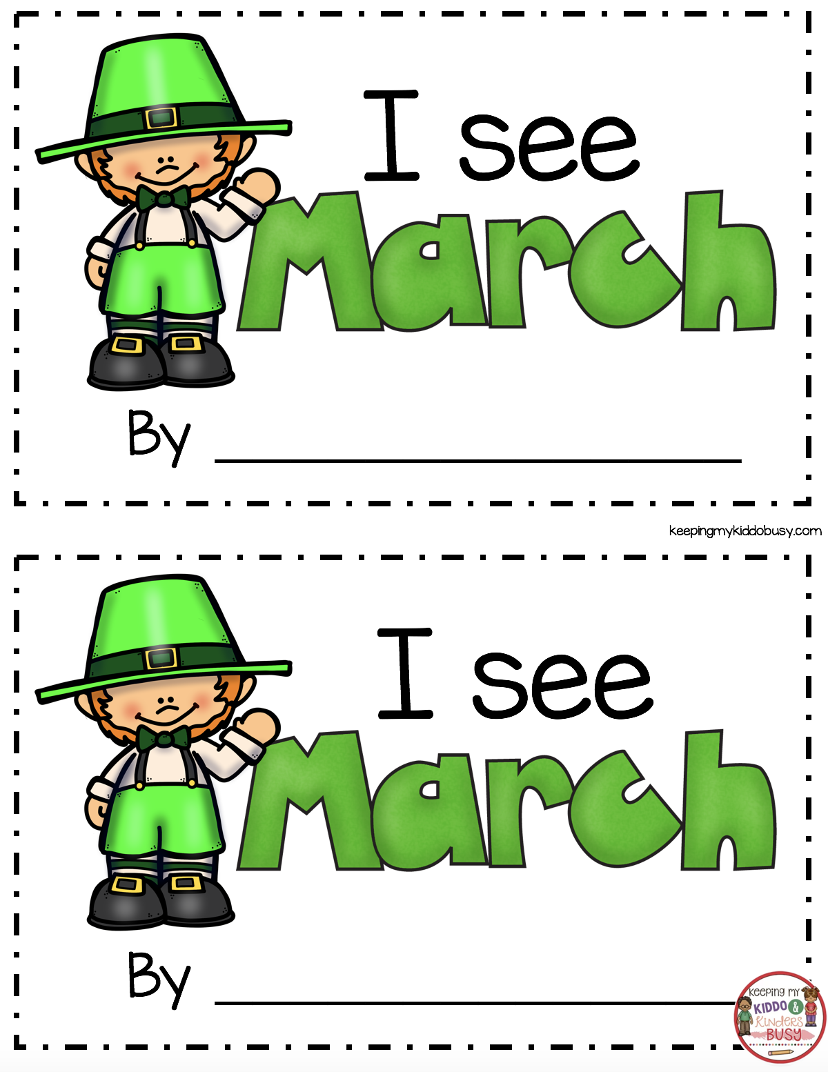 March Math Amp Ela Kindergarten Pack