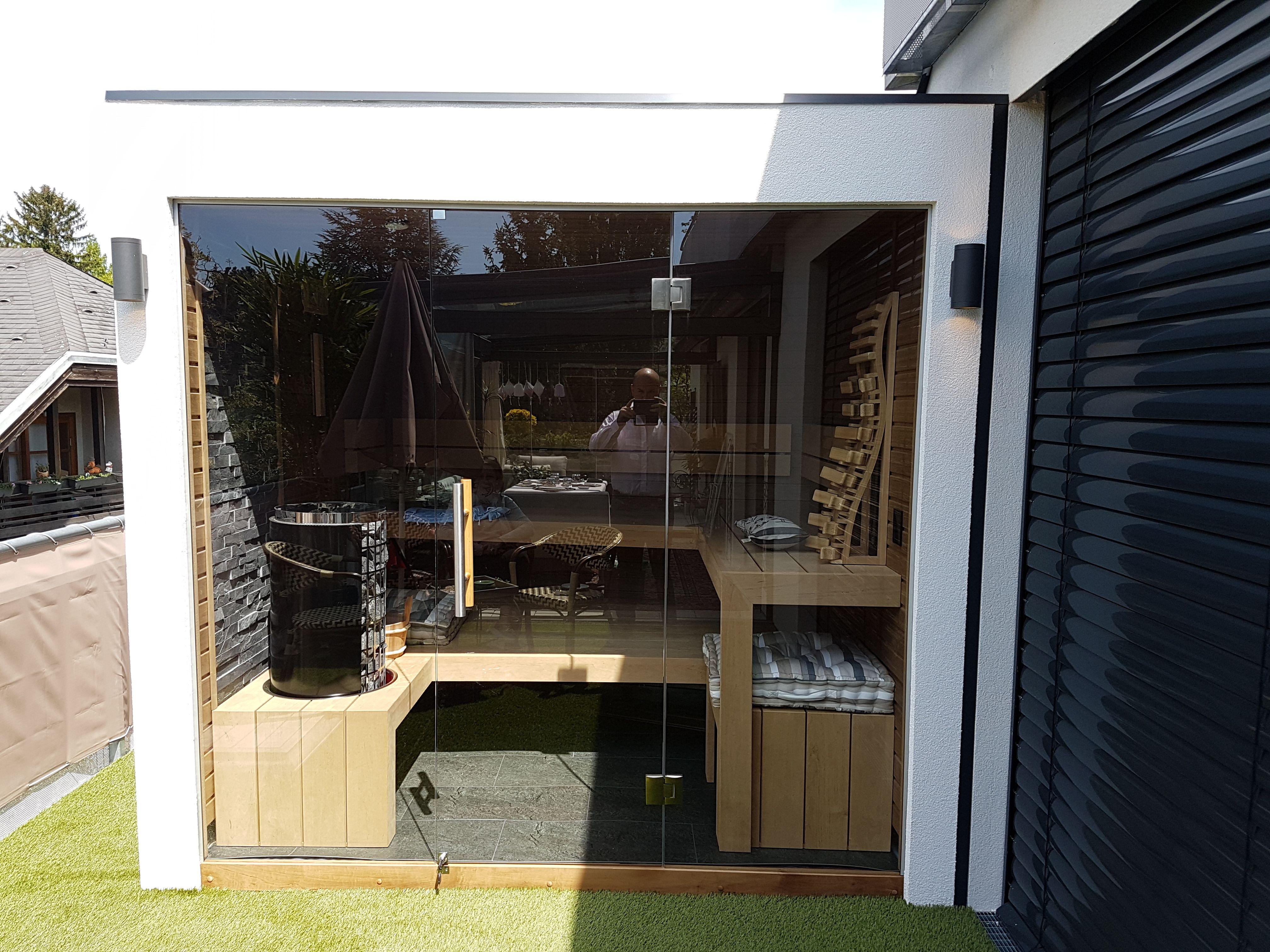 Outdoor Sauna / Garten Sauna nach Maß / für Kunden geplant ...