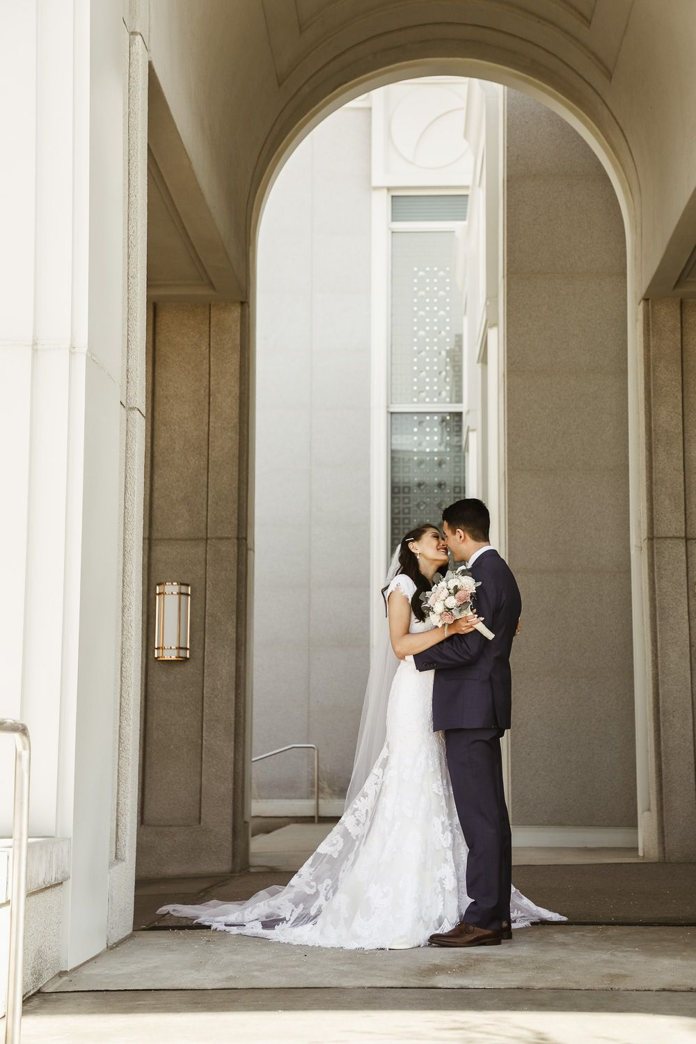 Mount Timpanogos Utah Temple Wedding Mandi + Michael