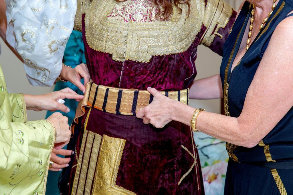 Sephardic Wedding Traditions A Bridal Party Before The Called Hina Or Noche De