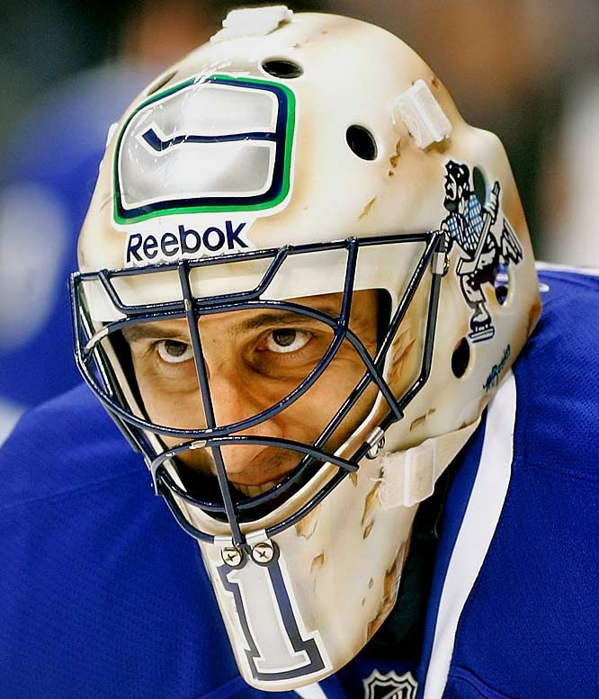 Roberto Luongo Masks Goalie Mask Ice Hockey Teams Hockey Goalie