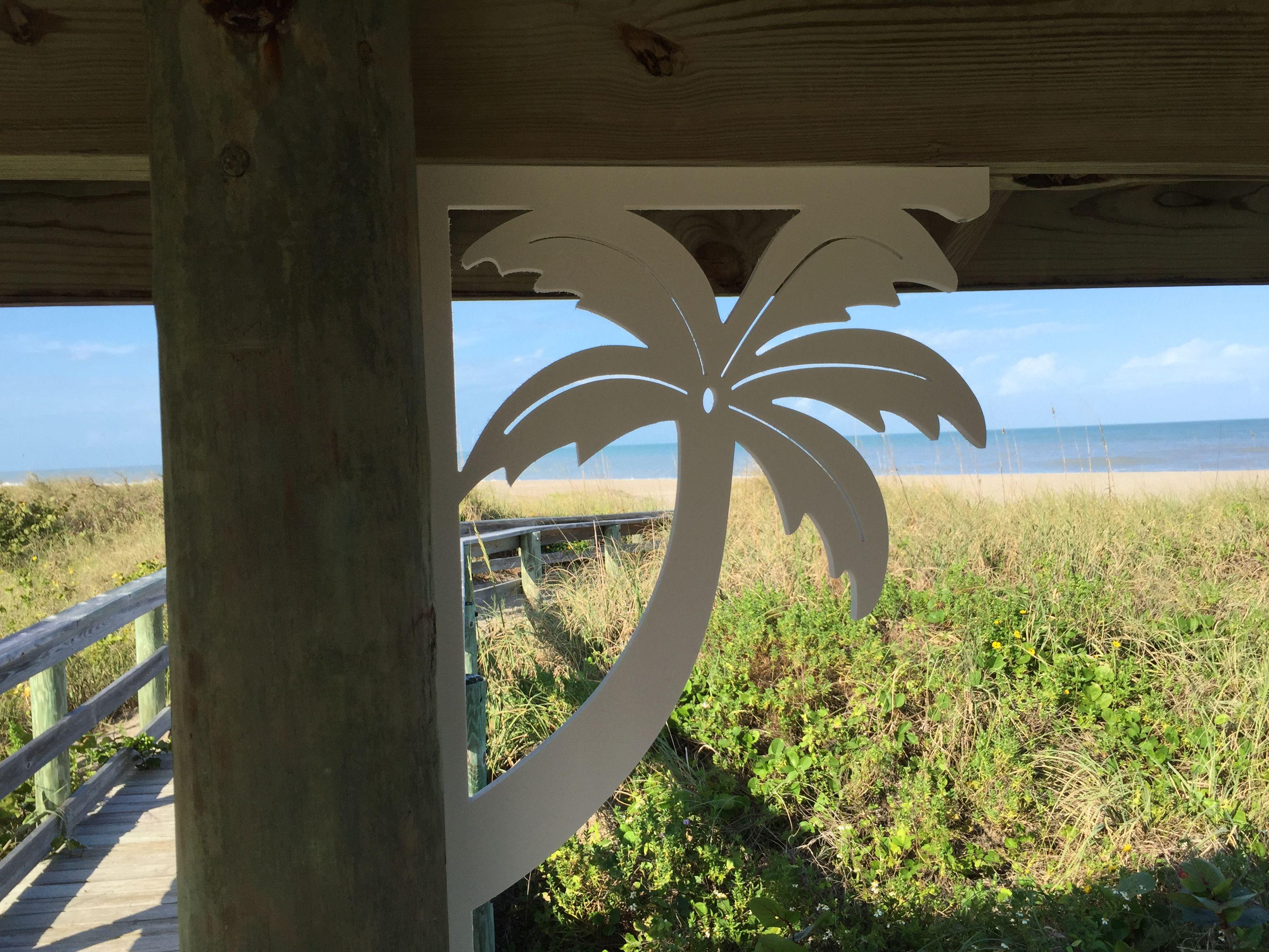 Large Palm Tree Decorative Corner Bracket For Your Mailbox, Deck, Patio.  Indoor /