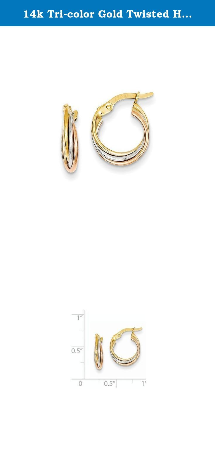 3.5g Solid Gold 14K Round Hoop Earrings 2mm Wide by 2 in Diameter Hinge and Notched Post Closure