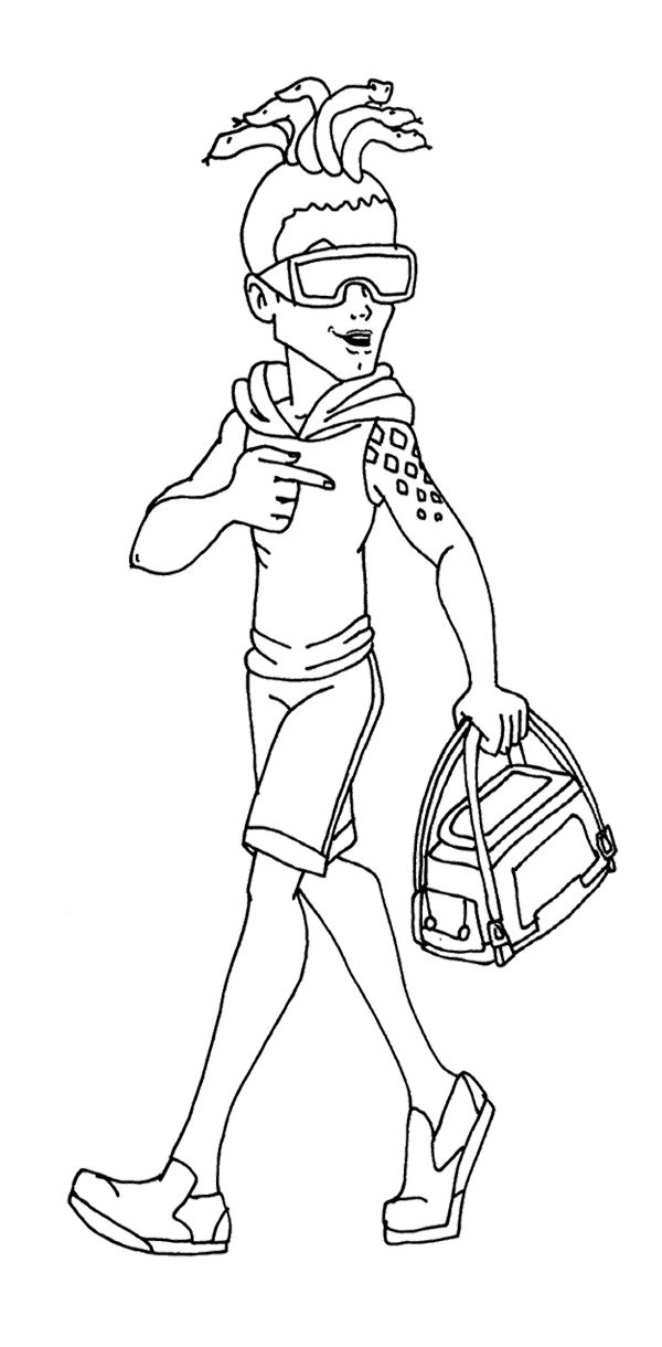 Monster High Deuce Gorgon Carry Bag Coloring Page