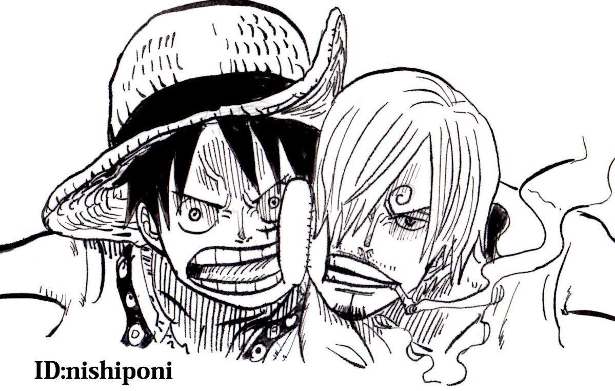 One Piece, Straw Hat Pirates, Luffy, Sanji