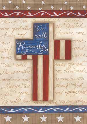 We Will Remember Decorative House Flag House Flags Custom Flags Decor