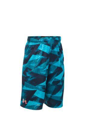8779fdc96 Under Armour Boys Steph Curry Printed Shorts Boys 8-20 - Island Blue - M