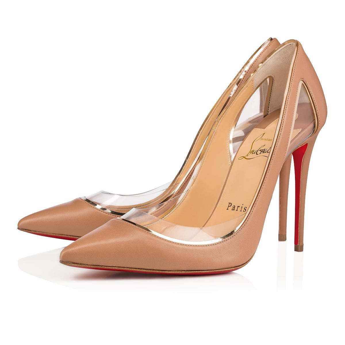 a7c77a5e43f Cosmo 554 100 Nude Leather - Women Shoes - Christian Louboutin ...