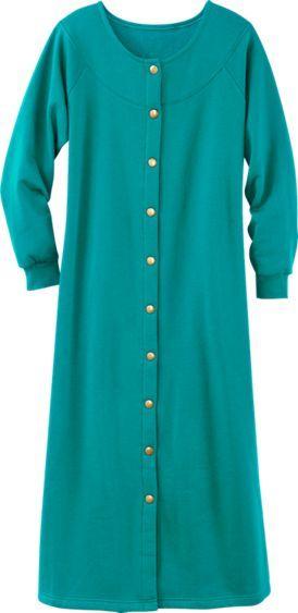 Sweatshirt Snap-Front Robe  6007e1bae