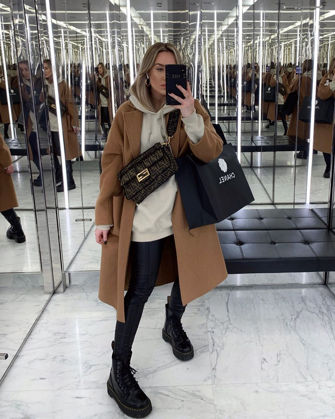 """Photo of FREYA KILLIN. on Instagram: """"If anyone has the number for the shopping addicts helpline then please send it my way.  Coat – @mango  Hoodie – @prettylittlething…"""""""