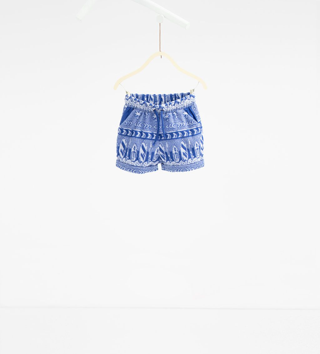 Palm tree organic cotton Bermuda shorts-SHORTS-BABY BOY   3 months-3 years-KIDS   ZARA Canada