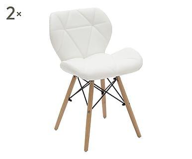 Sedie Superstudio ~ Set di sedie imbottite in legno ed ecopelle joy bianco