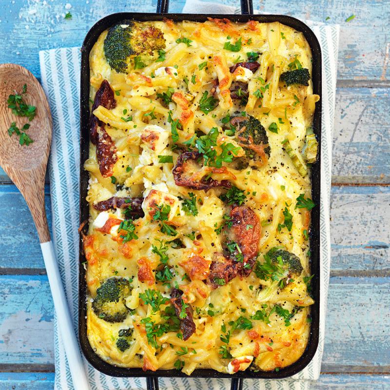 Pastagratang Med Ostsas Broccoli Och Soltorkade Tomater Recept I 2020 Med Bilder Vegetariska Maltider Nyttig Mat Ostsas