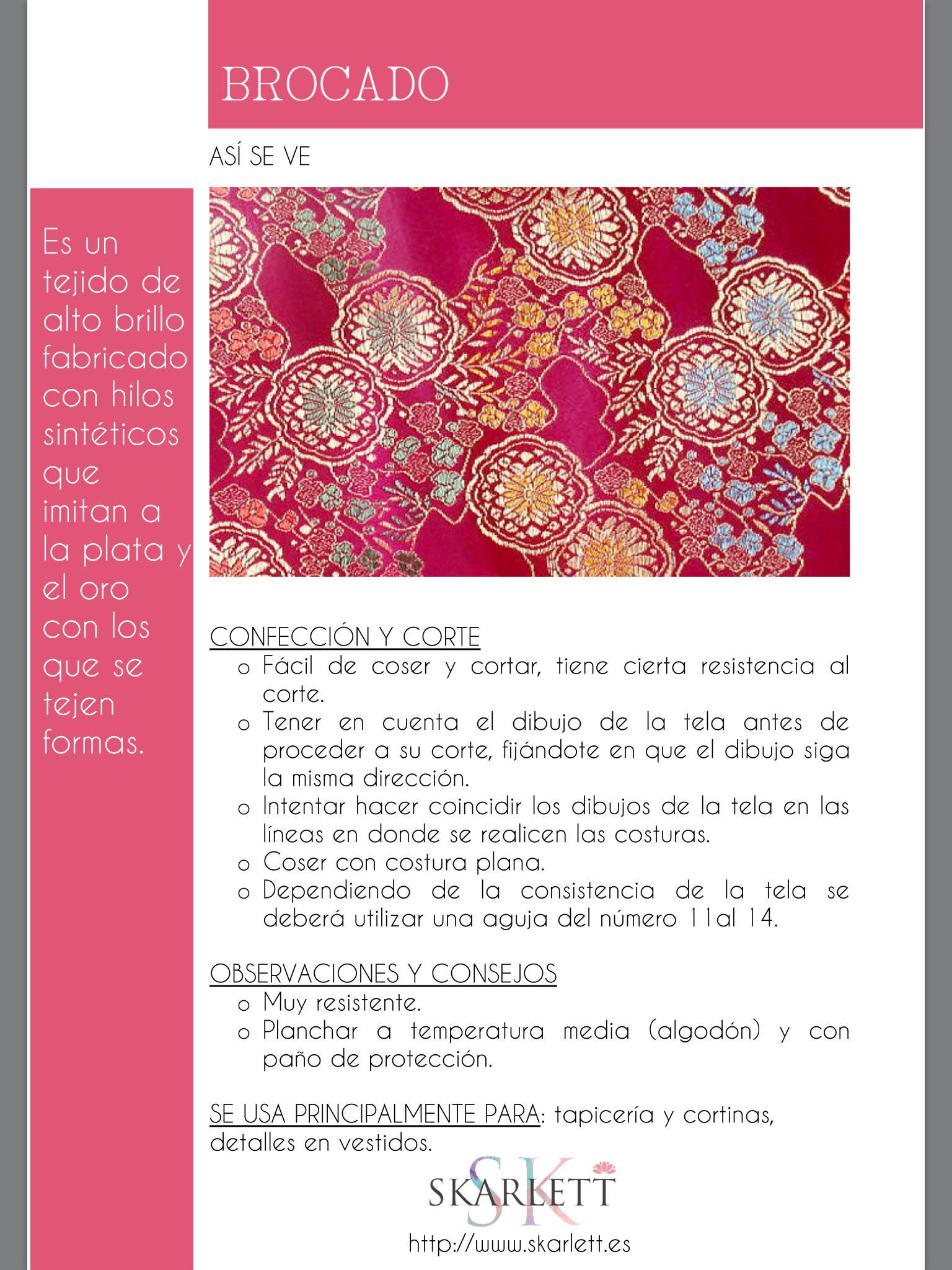 El dossier de las telas Skarlett | CURSOS | Pinterest | Tela ...