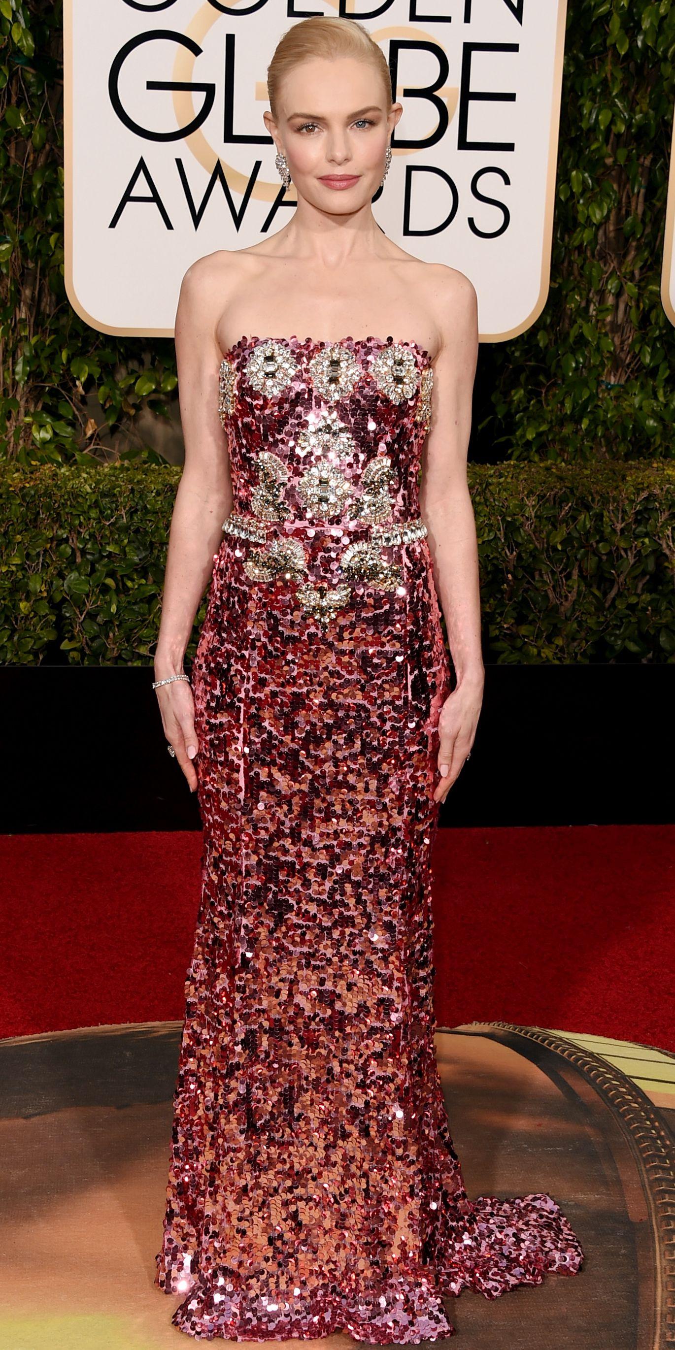 Kate Bosworth in Dolce & Gabbana at the Golden Globe Awards in 2016.