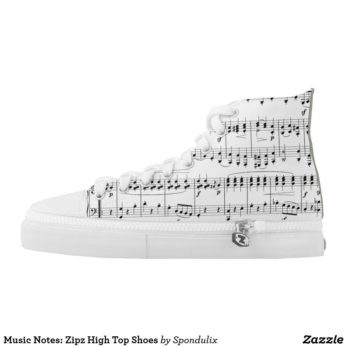 799dc30650 Music Notes  Zipz High Top Shoes