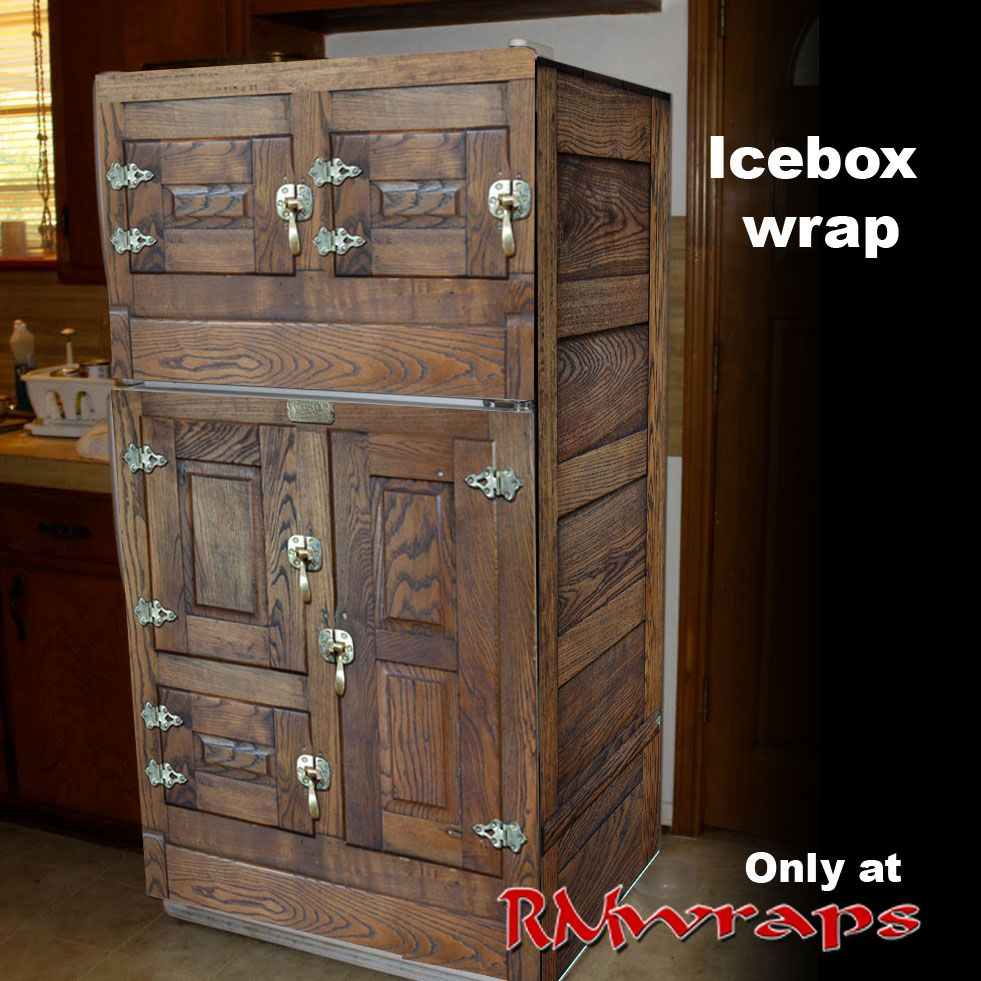 Vintage looking refrigerators - Icebox Looking Fridge Order The Front Or The Full Wrap One Of A Kind