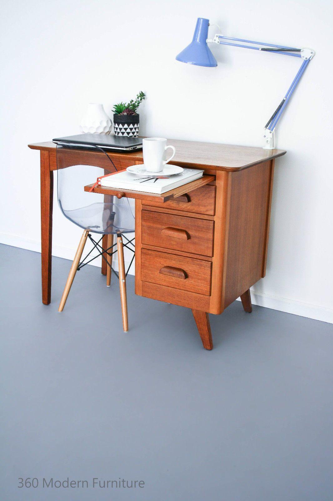 Mid century industrial desk orig modern table vintage retro scandi room divider in home garden furniture desks home office furniture ebay 360 modern