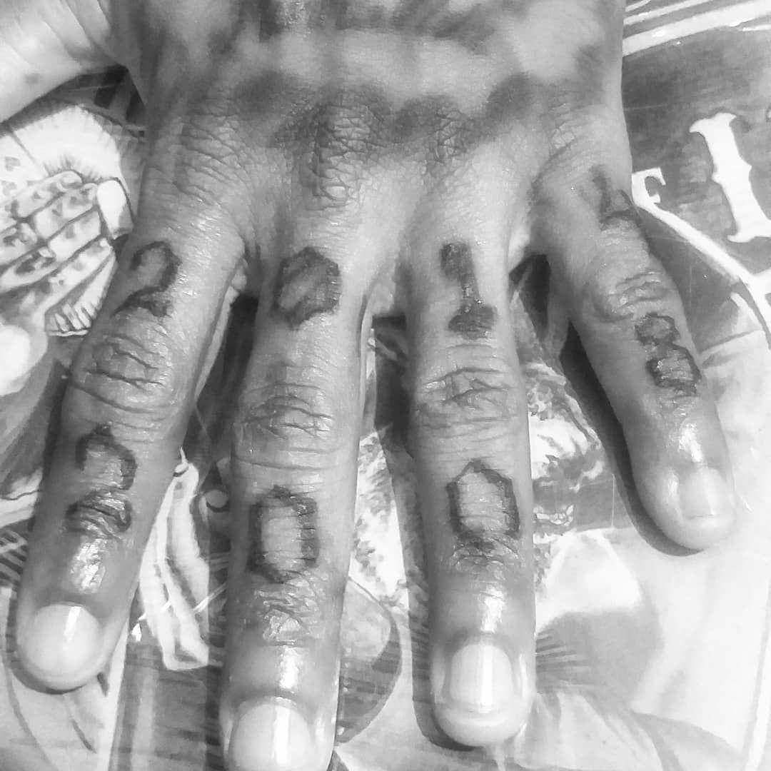 Retoque 2014/2008 do irmão @caiomaia.rap #tattoo #tatuagem #tattooworld #tattoostyle #tattooartist #tattoos #number #2014 #2008 #data #instagood #intagram