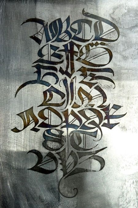 Anachropsy calligraphie latine par benoit furet alphabet mod le tatouage pinterest - Lettre graffiti modele ...