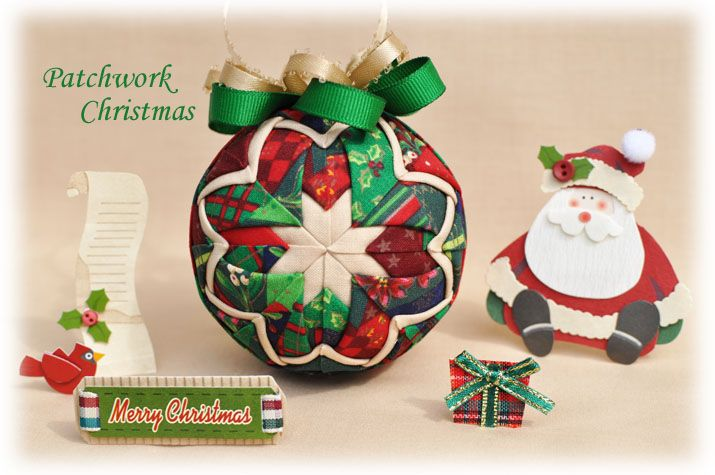 Learn to make these quilted ornaments from fabric and ribbon with NO SEWING  REQUIRED! - - Learn To Make These Quilted Ornaments From Fabric And Ribbon With NO