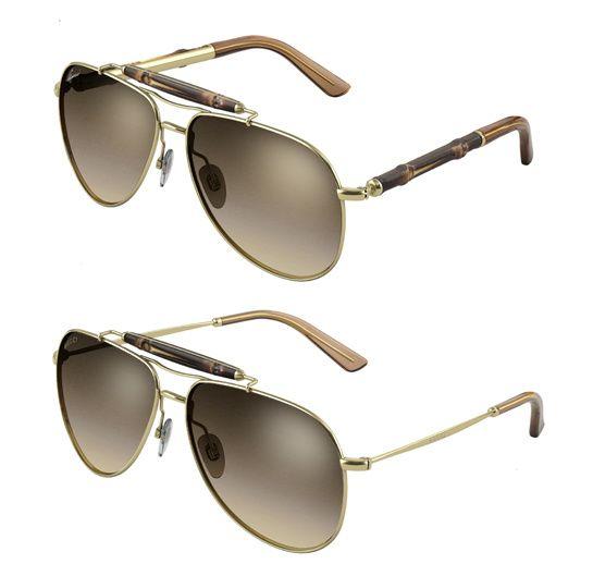 Bambou et Diamond Glitter, les nouvelles lunettes de soleil Gucci ... 0d8190accb8e