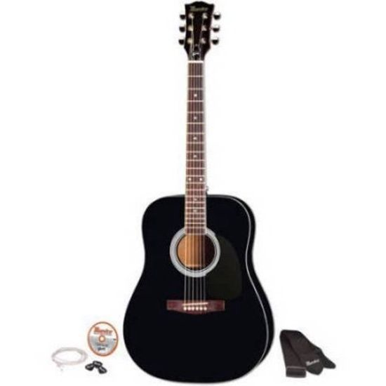 41 Full Size Acoustic Guitar Kit Black Finish Maestro By Gibson Innovations New Acoustic Guitar Kits Guitar Kits Semi Acoustic Guitar