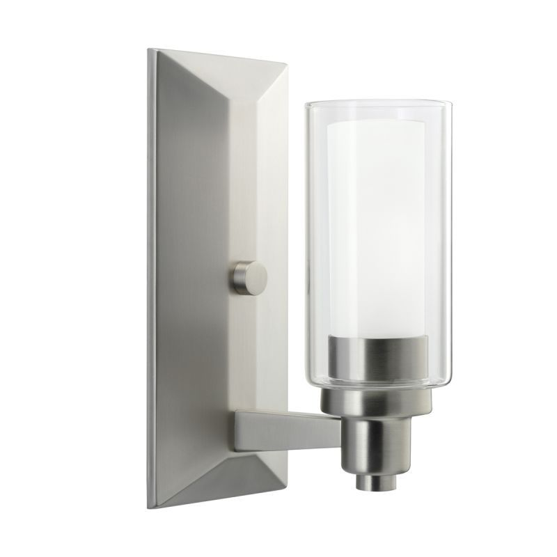 Kichler One Light Up Lighting Wall Sconce From The Circolo - Bathroom bar lights brushed nickel