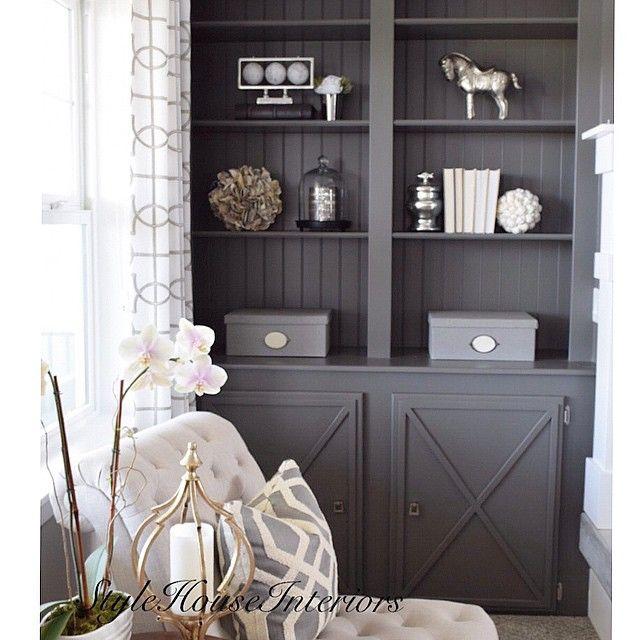 Best Benjamin Moore Kendall Charcoal Hc 166 Grey Cabinets Built 400 x 300
