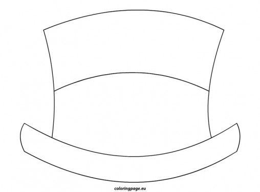 Winter Coloring Page Snowman Hat Hat Template Wooden Snowman