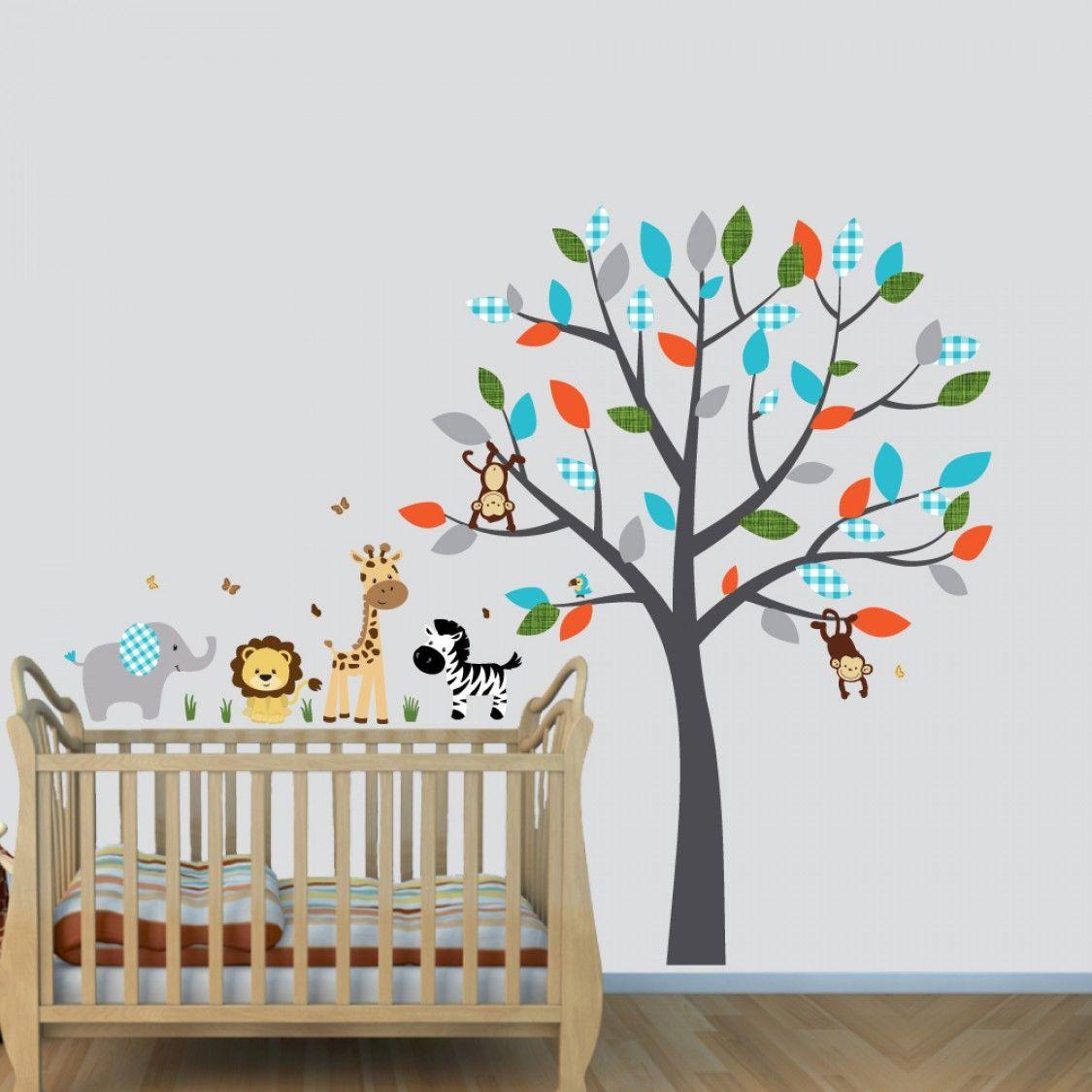 Full Tree Mini Animal Wall Stickers