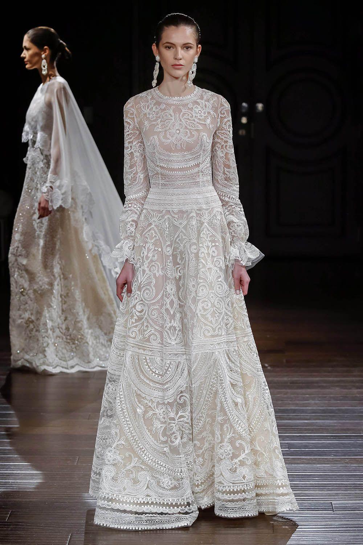The best in bridal spring naeem khan feminine and romantic