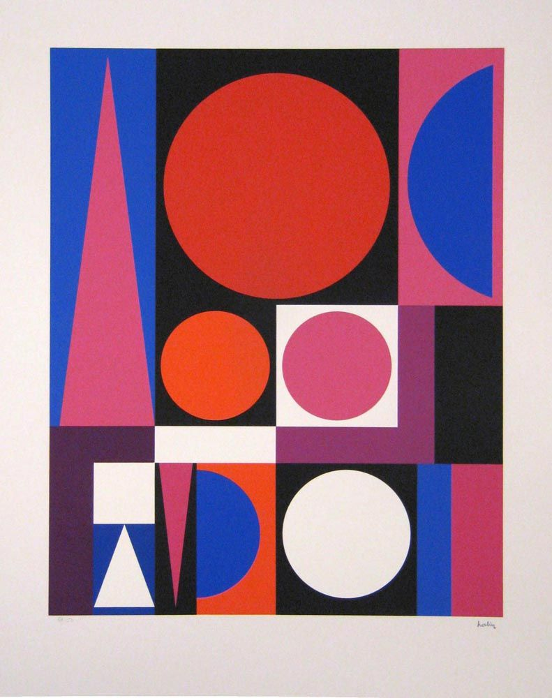 Auguste herbin used a strictly two dimensional painting for Auguste herbin